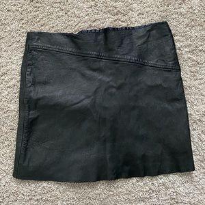BCBGMaxAzaria Leather Mini Skirt Black